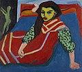 Ernst Ludwig Kirchner - Sitzendes Mädchen (1910).jpg