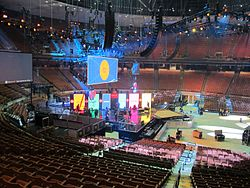 Erwin Center Set Up For A Concert April 2016