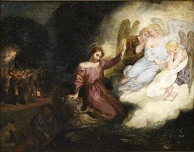 Skisse for Kristus i Olivenhagen (c.1826).