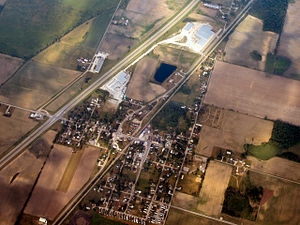 Etna Green, Indiana - Etna Green from the air.
