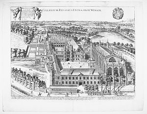 David Loggan - Eton College from  Cantabrigia illustrata(1690)