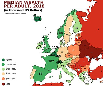 Distribution Of Wealth In Europe Wikipedia - Map-of-europe-and-us