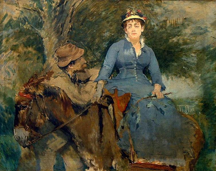 Archivo:Eva Gonzalès - - The Donkey Ride.jpg