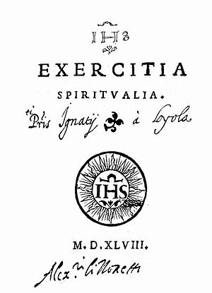 Mental prayer - Image: Exercitia Spiritualia 1ed 2