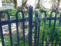 Exhibition Place water garden locked gate.jpg