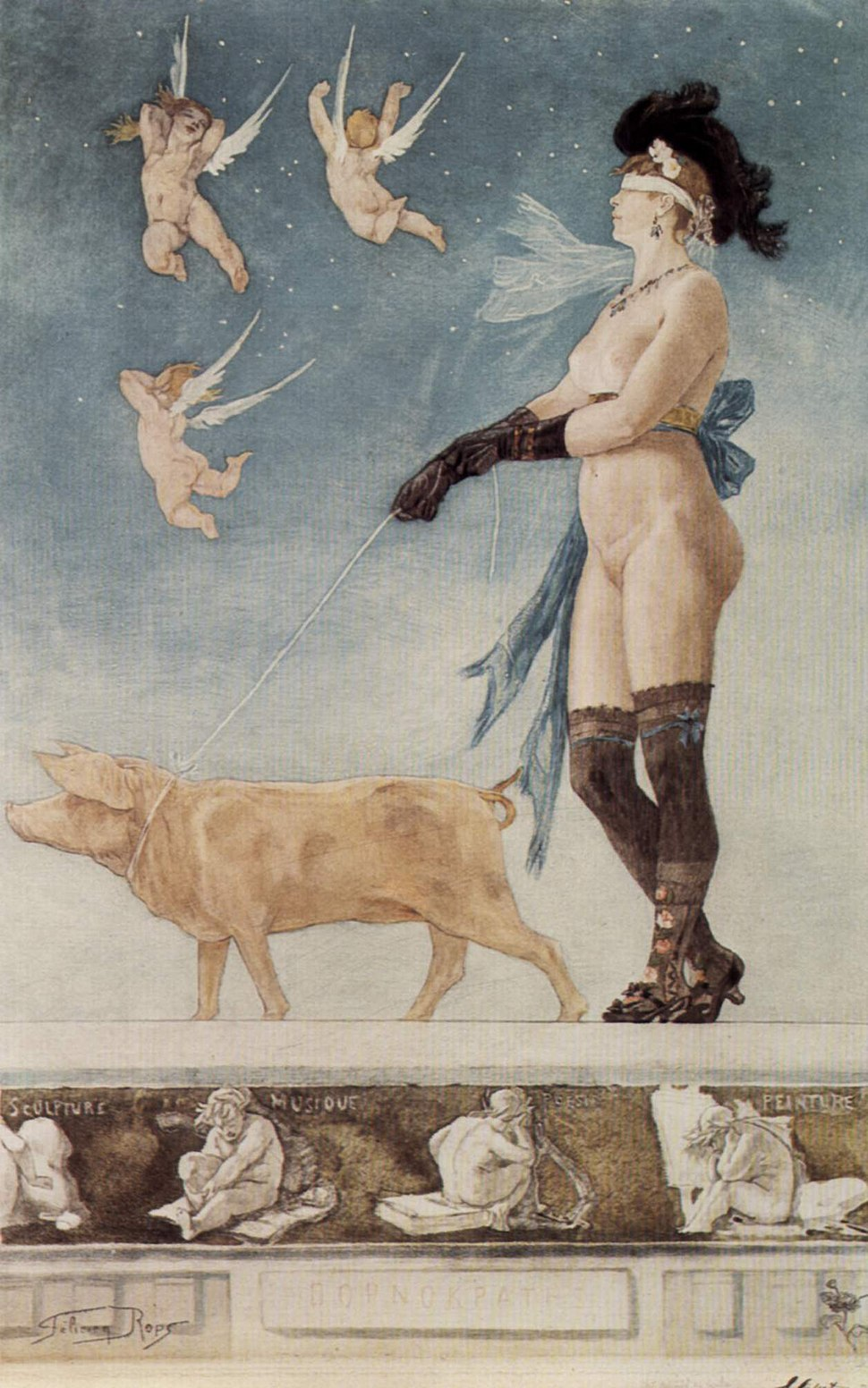 Félicien Rops - Pornokratès - 1878 (2)