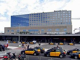 Carte Barcelone Sants.Gare De Barcelone Sants Wikipedia