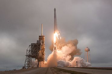 Falcon 9 and Dragon lift off from Launch Pad 39A for CRS-10 (33000639155).jpg