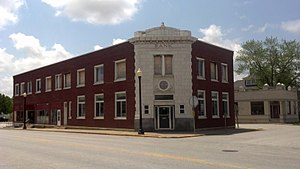 National Register of Historic Places listings in Monroe County, Missouri - Image: Farmer's and Merchant's Bank 6