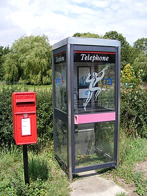 KX telephone boxes - KX100 telephone box with 1991 branding