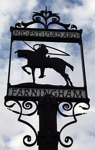 Farningham - Image: Farningham village sign