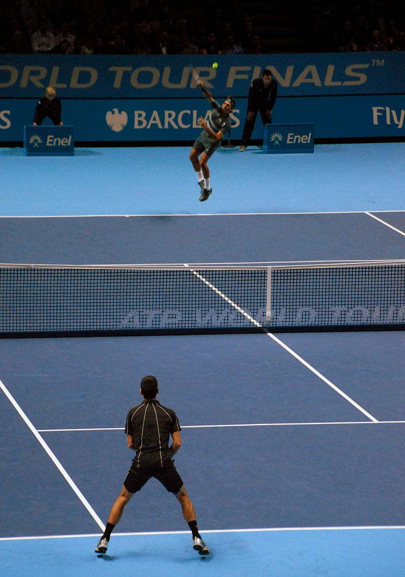 Federer v Djokovic (10895619005).jpg