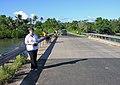 Felicity on the Erakor Bridge, Efate, Vanuatu, 1 June 2006 (157580605).jpg