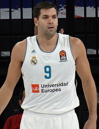 Felipe Reyes - Reyes with Real Madrid, in 2017.