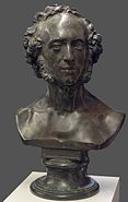 Felix.Mendelssohn.Bartholdy.Bronzebueste.Dauerausstellung.Dreifaltigkeitskirchhof