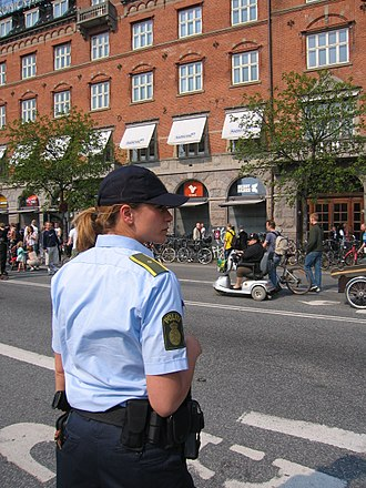 Security sector governance and reform - The quality of the service provided by the police, such as the pictured Police of Denmark, is considered a component of security sector governance and reform