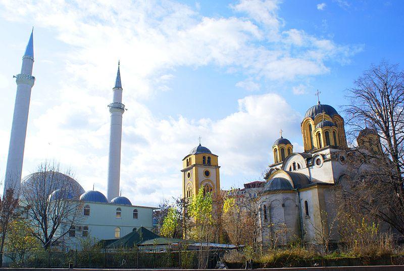 File:Ferizaj Church and Mosque.JPG