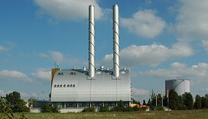 Heat-only boiler station - The largest Austrian fossil fired district heating plant. Total heat power 358,000 kW.