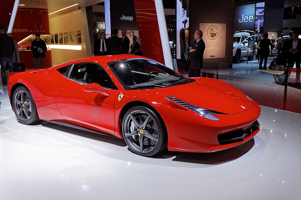 Ferrari 458 Italia - Mondial de l'Automobile de Paris 2012 - 001