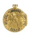 Fickur med boett av guld med figurscen i dekoren, 1700-tal - Hallwylska museet - 110438.tif