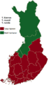 Finnish presidential election results (first round) by province, 2006.png