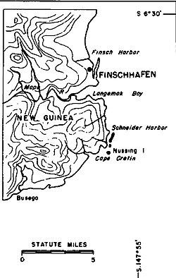 Karte von Finschhafen