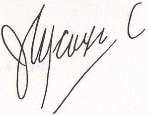 Jorge Icaza Coronel - Image: Firma de Jorge Icaza