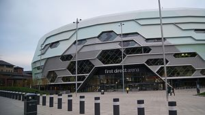 First Direct Arena - Looking towards the main entrance.