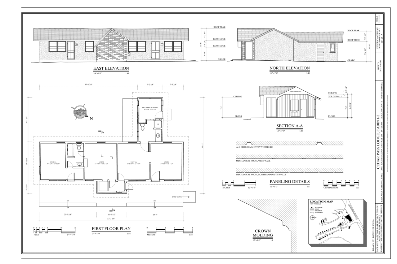 N Home Plan And Elevation : File first floor plan east elevation north