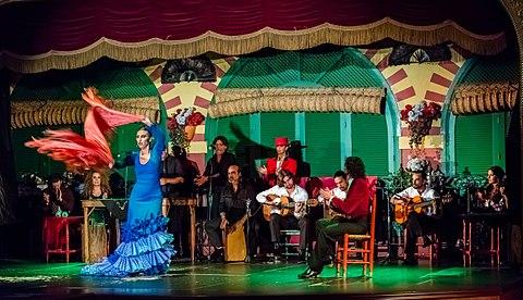 Flamenco en el Palacio Andaluz Sevilla Espana DD