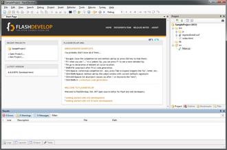 FlashDevelop - Image: Flash Develop 4 Main