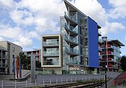 Extensive use of float glass sheets in apartments in Bristol, England.