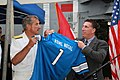 Flickr - Official U.S. Navy Imagery - A Rear Adm. receives a Detroit Lions jersey..jpg