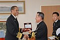 Flickr - Official U.S. Navy Imagery - Adm. Haney receives a gift..jpg