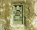 Flush plate on Maes Knoll trig point - geograph.org.uk - 1389287.jpg