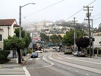 West Portal, San Francisco - Ulloa Street in West Portal in 2017