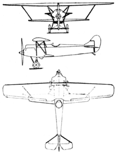 Fokker D.XIII 3-view Le Document aéronautique October,1926.png