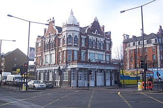 Old Kent Road - The Thomas A'Becket pub was an important landmark on Old Kent Road.
