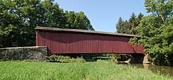 Forry's Mill Covered Bridge Wide Angle Side View 3000px.jpg
