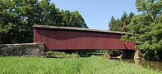 West Hempfield Township, Lancaster County, Pennsylvania - Forry's Mill Covered Bridge in West Hempfield Township