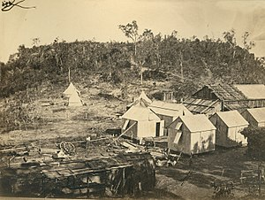 Fort Hill, Darwin - Goyder's survey camp