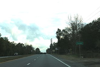 Fountain, Florida - The sign for Fountain on SR20