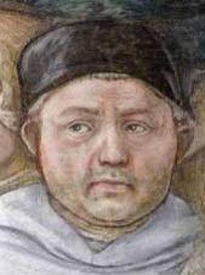 Madonna and Child (Lippi) - A self-portrait of Fra Filippo Lippi.