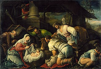 Francesco Bassano the Younger - Adoration of the Shepherds