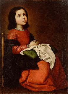 <i>The Virgin Mary as a Child Praying</i>