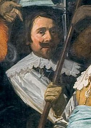 Francois Woutersz - François  Wouters, detail of schutterstuk by Frans Hals in 1639