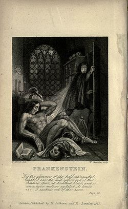 Cover art from the 1831 edition of Frankenstein