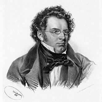 Franz Schubert - Franz Schubert by Josef Kriehuber (1846)