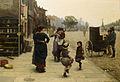 Frederick Brown An impromptu dance - a scene on the Chelsea Embankment 1883.jpg