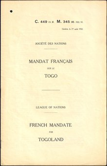 Mandate document front cover